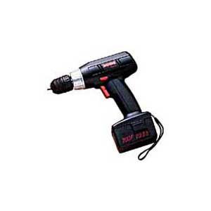 THE HANDLE on a cordless drill is either a pistol grip or T-handle. The T-handle is most comfortable for general drilling and driving screws.