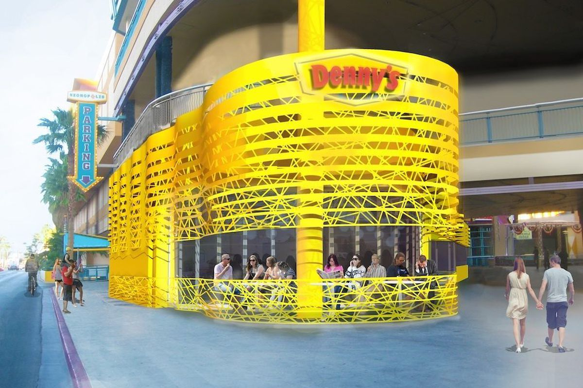 Behold Denny\'s Futuristic Giant Yellow Vegas Flagship. With Bonus ...