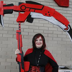 Jenny Cottam attends Comic Con during the convention at the Salt Palace in Salt Lake City Friday, Sept. 5, 2014.