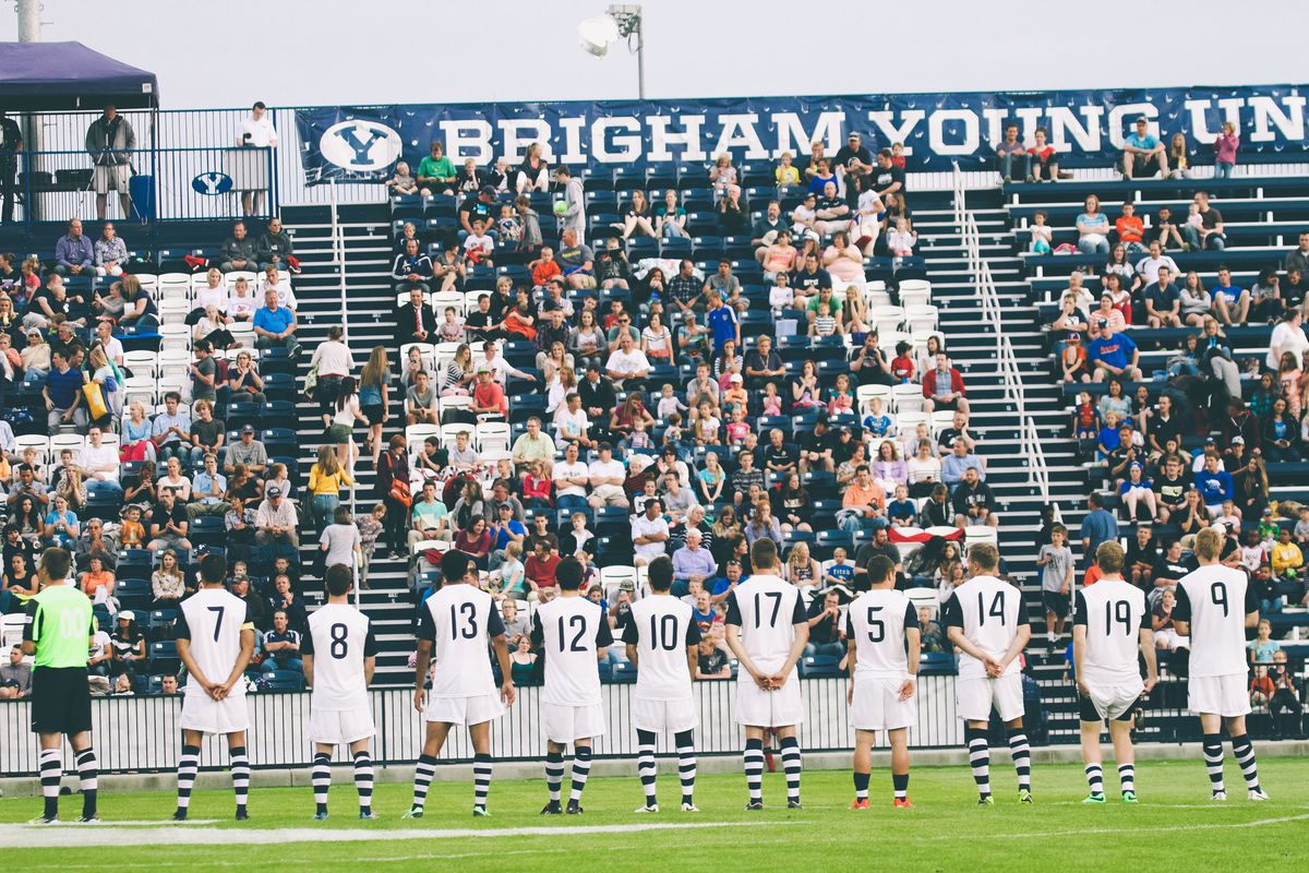 BYU fans look on before the game