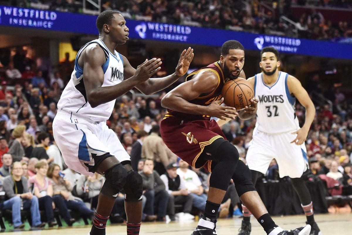 NBA: Minnesota Timberwolves at Cleveland Cavaliers