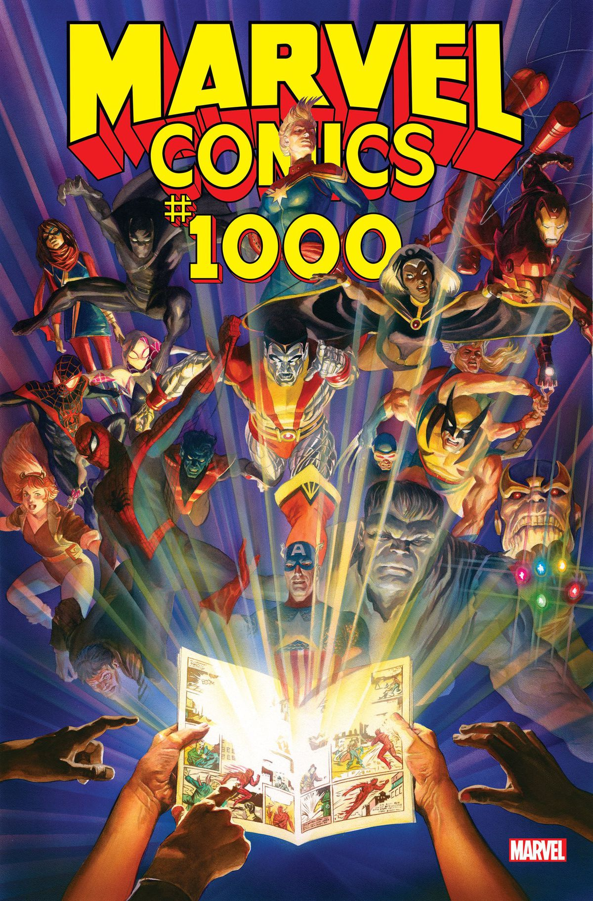 The cover of Marvel Comics #1000, Marvel Comics (2019).