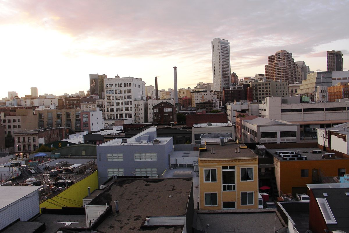Sunset over the SoMa neighborhood