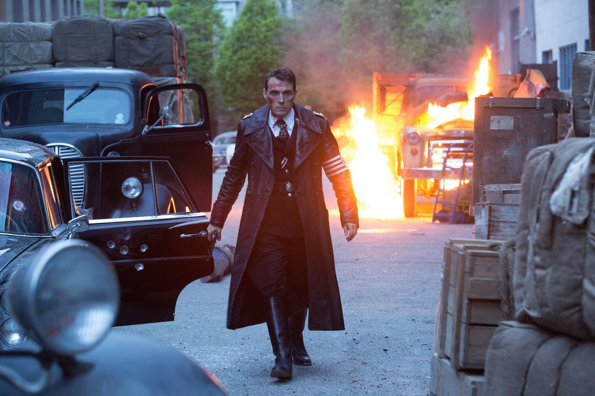 Rufus Sewell plays a high-ranking Nazi officer in Amazon's new alternate history series The Man in the High Castle.