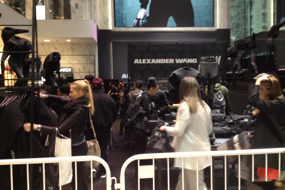 Inside the Fifth Avenue store at 48th Street