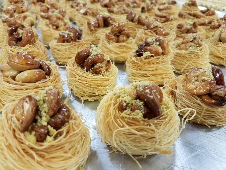 Bird's nest baklava from Peace Bakery