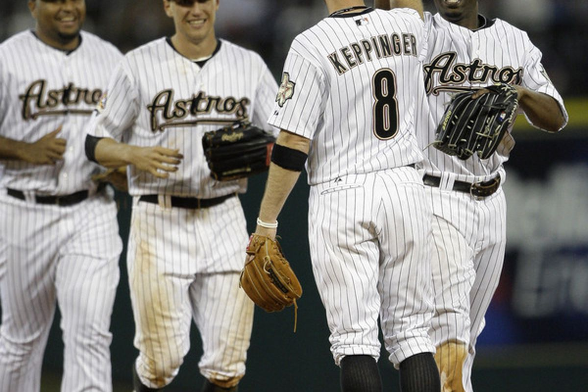 The Astros haven't been able to celebrate when playing the Rangers.