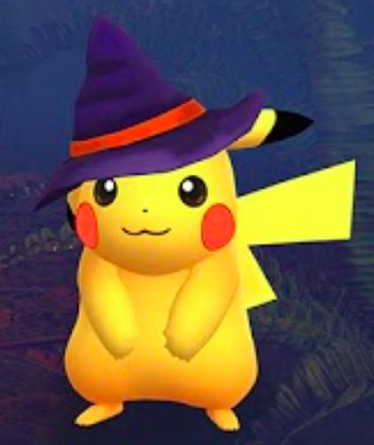 witch hat pikachu from pokémon go