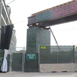 Media Gate, on Waveland next to the broadcast cable bridge -