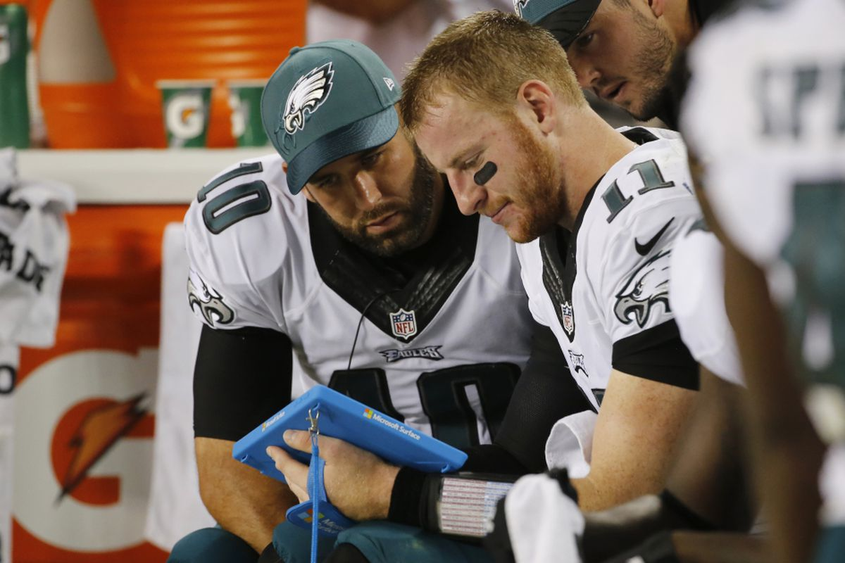 7b8715e7055 Chase Daniel was the Eagles' backup QB behind Carson Wentz in 2016. |  Charles Rex Arbogast/AP Photo