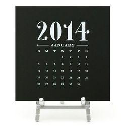 Black desk calendar, $15 (Orig. $38 to $52)