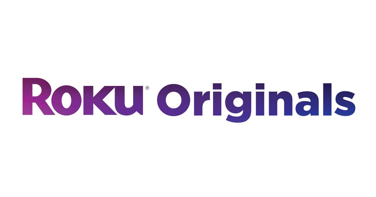purple text saying Roku Originals