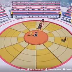 <em>Paper Mario: The Origami King</em> combat example.