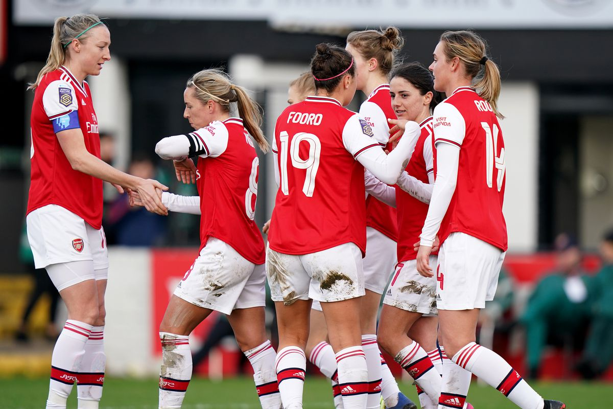 Arsenal v Lewes - FA Women's Cup - Fifth Round - Meadow Park