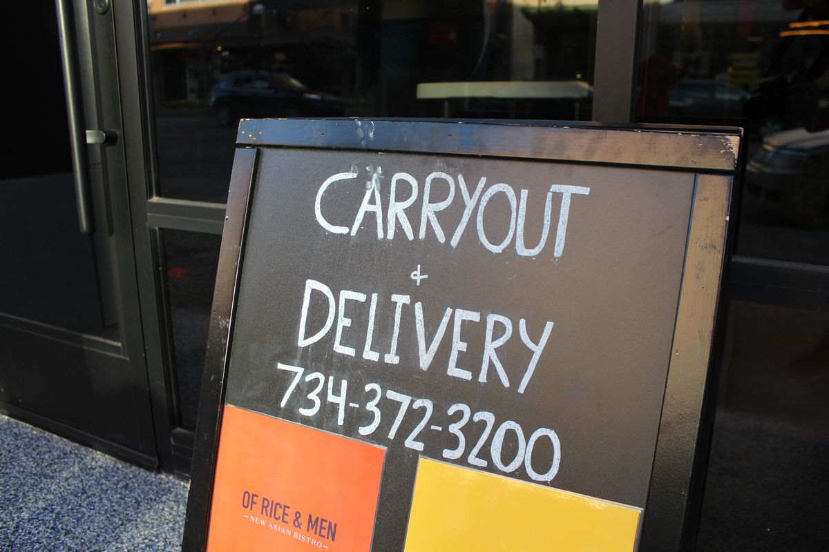 Carryout delivery curbside pickup store offering pickup coronavirus covid-19 pandemic Ann Arbor quarantine.