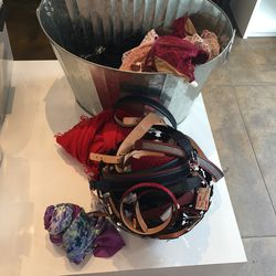 The remaining belts, scarves, and lingerie.