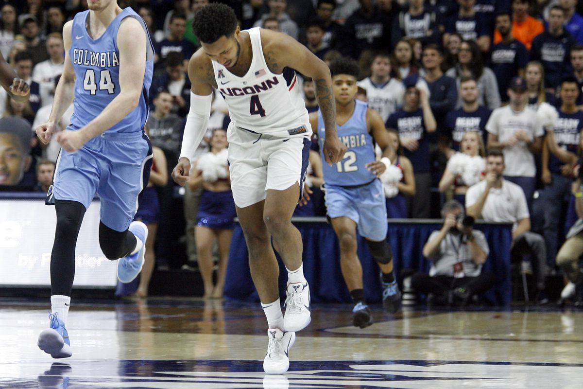 The UConn Men's Basketball team takes on the Columbia Lions at Gampel Pavilion in Storrs, CT on November 29, 2017.