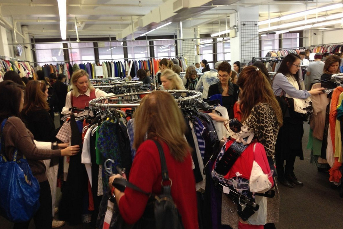"""Opening day at <a href=""""http://ny.racked.com/archives/2013/10/30/endless_amounts_of_clothing_still_left_at_the_club_monaco_sale.php"""">last fall's</a> sale"""