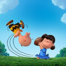 """Charlie Brown and Lucy in """"The Peanuts Movie."""""""