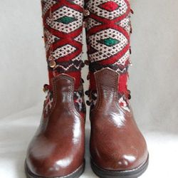 Holiday Diamonds Kilim Boots, $164. (Sparkle alert: These boots have a sequin-flecked kilim print!)