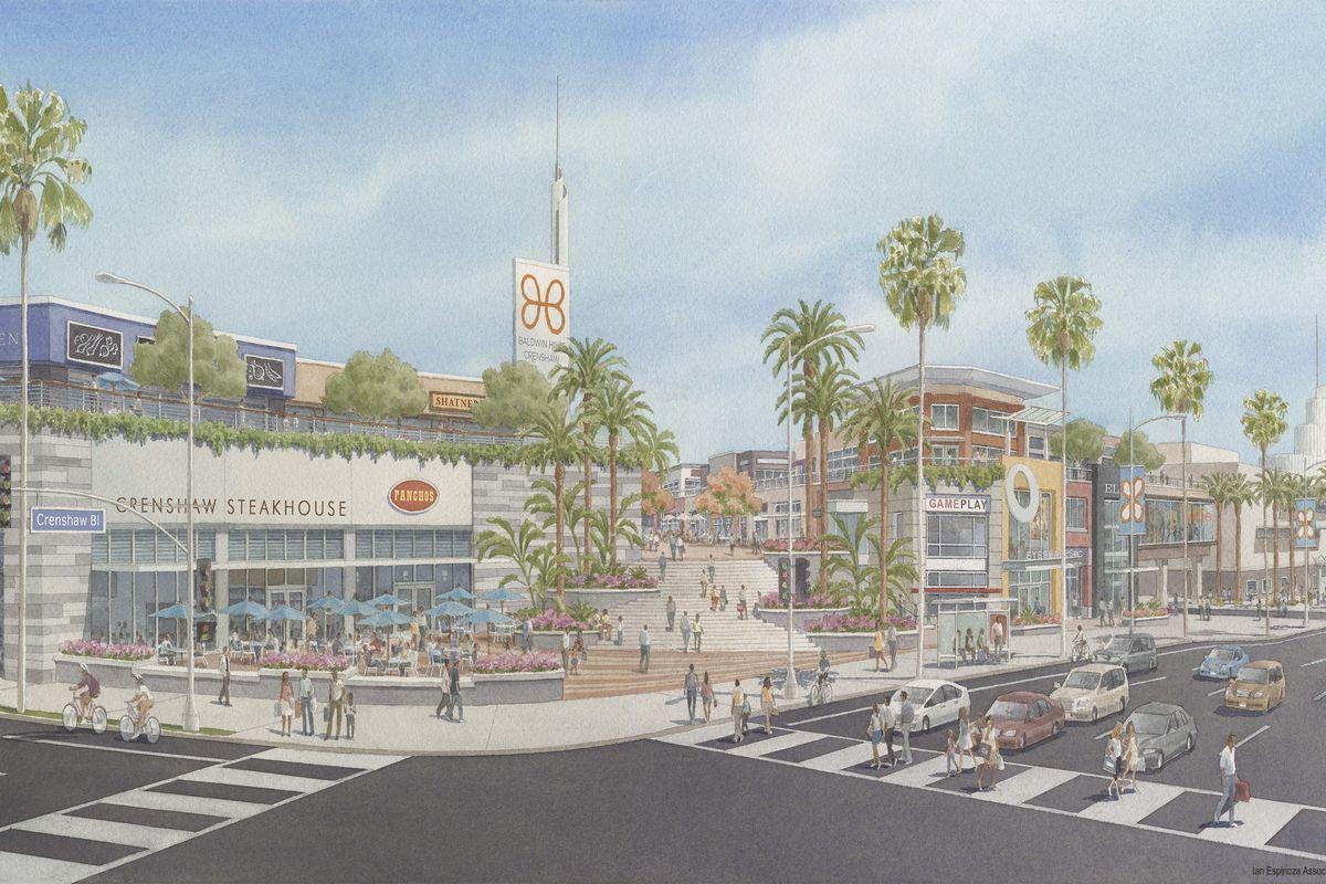 New Renderings for Baldwin Hills Crenshaw Plaza's