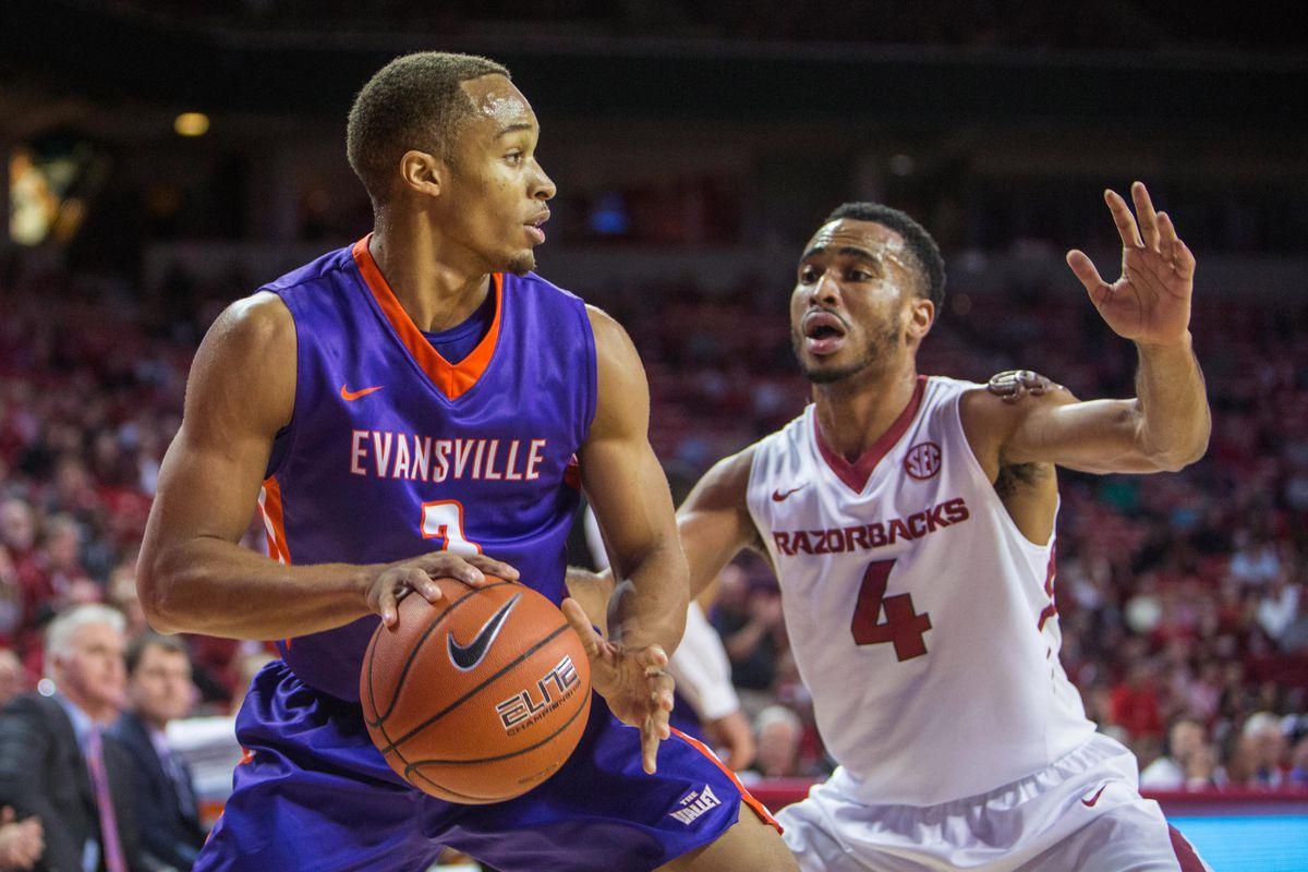 NCAA Basketball: Evansville at Arkansas