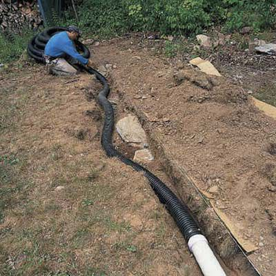 Placing flexible pipe over the reducer.