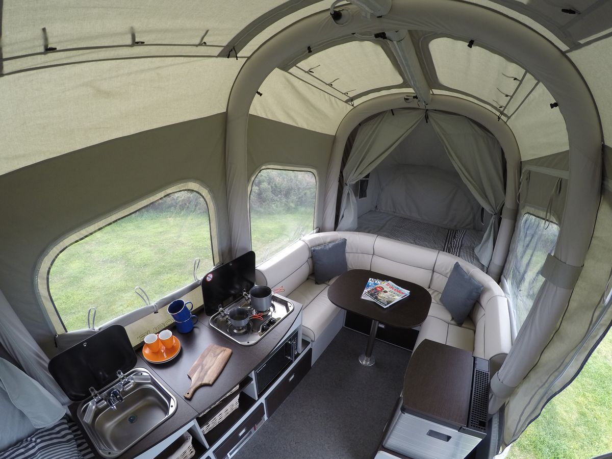 Solar Powered Camper >> Air Opus camping trailer inflates into a tent in just 90 ...