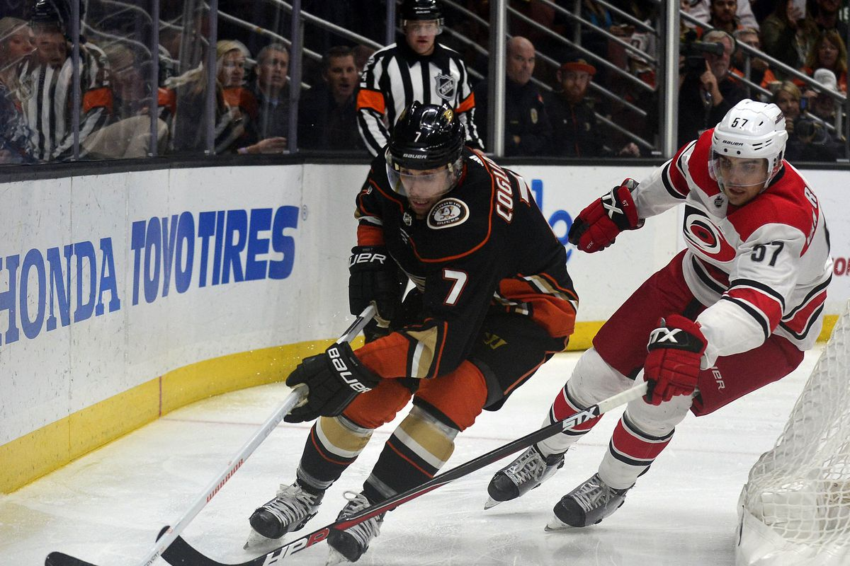 NHL: Carolina Hurricanes at Anaheim Ducks