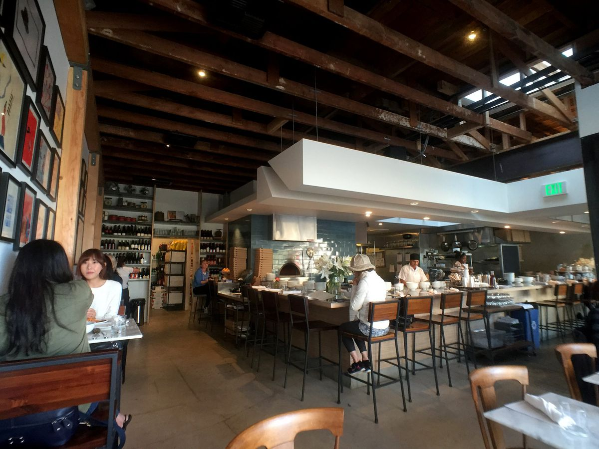 Milo & Olive restaurant interior in Santa Monica, California