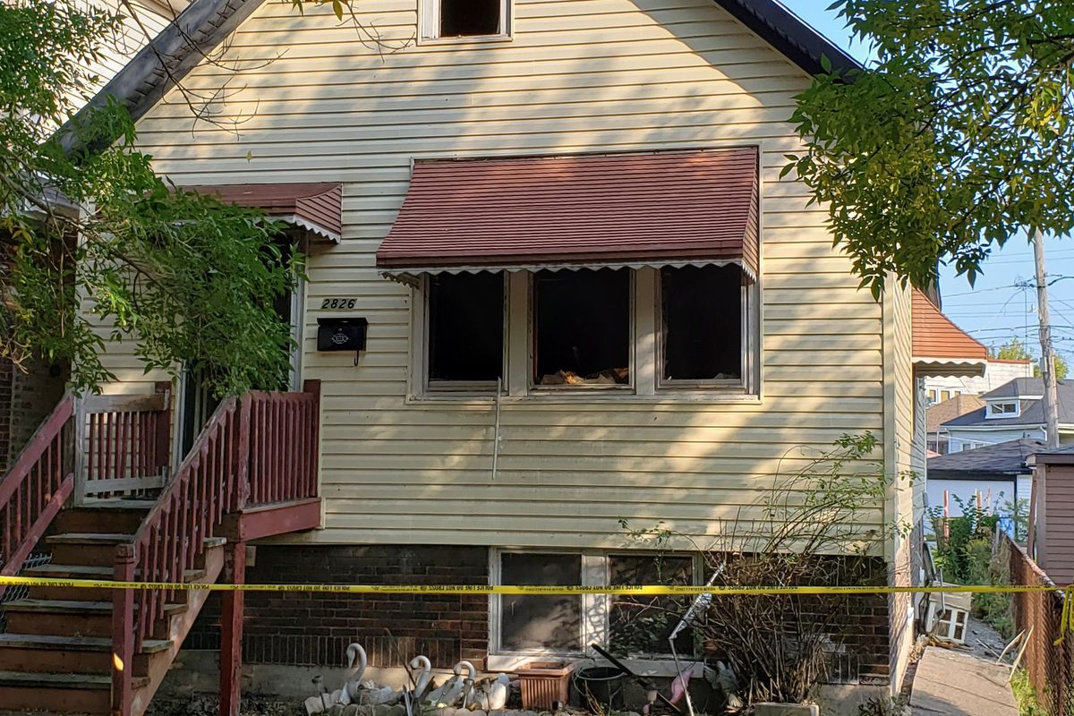 Firefighters extinguished a fire Oct. 6, 2020, in the 2800 block of East 93rd Street. Police say a man was unresponsive shortly before the fire broke out.