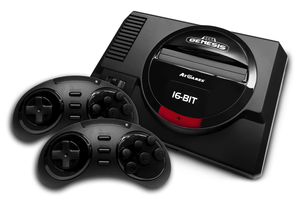 The sega genesis is getting a premium feature packed - Atgames sega genesis classic game console game list ...