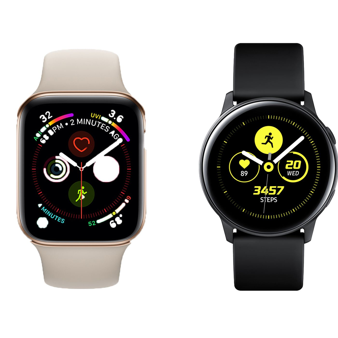 90be1bee0ba Samsung Galaxy Watch Active vs. Apple Watch Series 4: rival wearables  compared