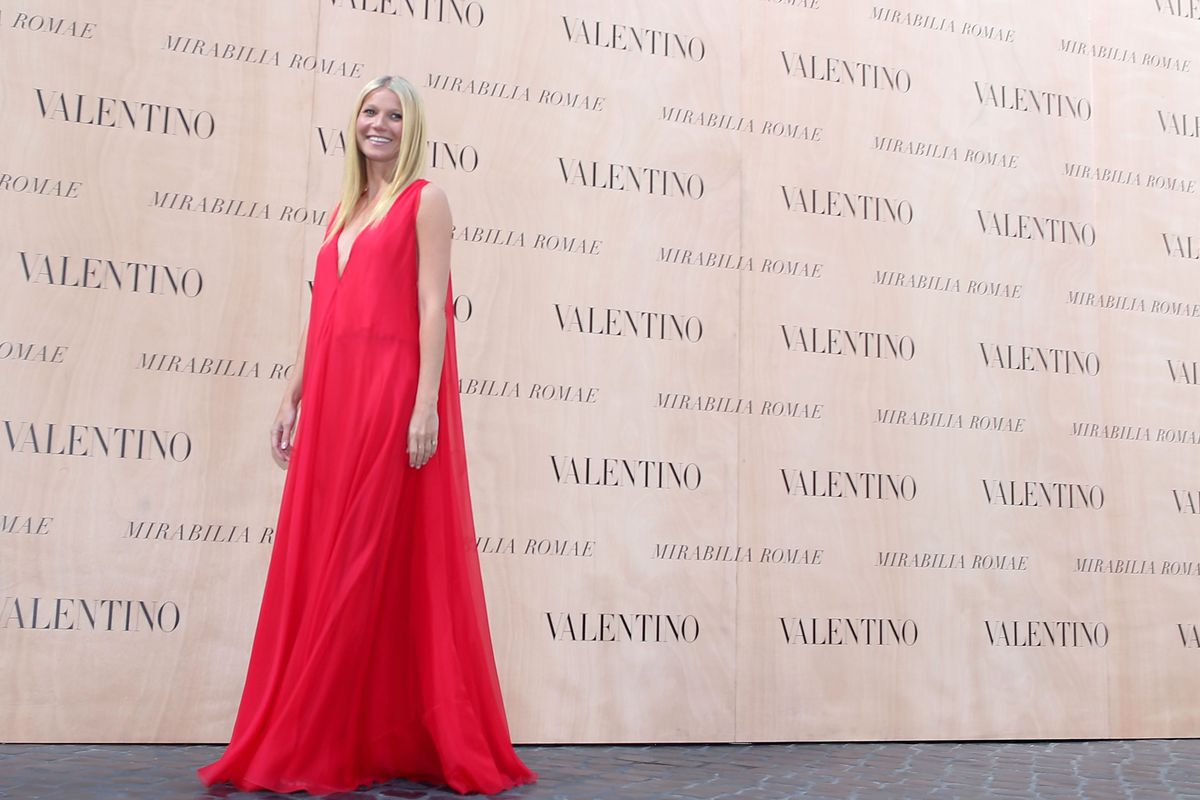 Paltrow at the Valentino show at AltaRoma AltaModa Fashion Week in July