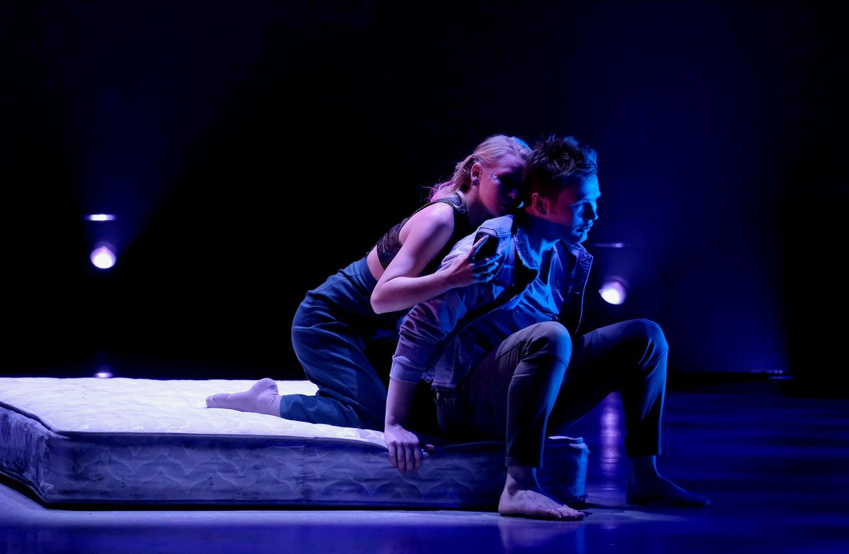 """""""So You Think You Can Dance"""" Top 10 to 8: Top 10 contestants Sophie Pittman (L) and Eddie Hoyt (R) perform a contemporary routine to """"When the Party's Over,"""" choreographed by Travis Wall on """"So You Think You Can Dance,"""" which aired Monday, Aug. 19."""