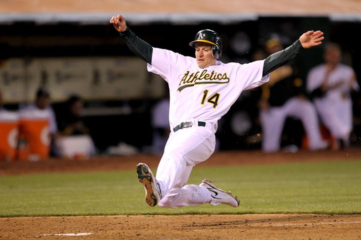 Mark Ellis of the Oakland Athletics (Photo by Ezra Shaw/Getty Images)