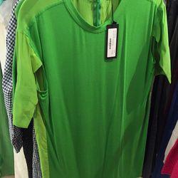 Silk tee-shirt dress, $150