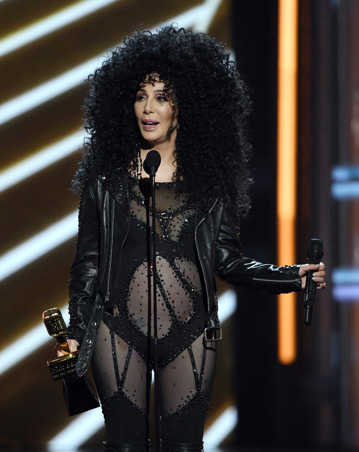 Cher accepts the Billboard Icon Award during the 2017 Billboard Music Awards.   Ethan Miller/Getty Images