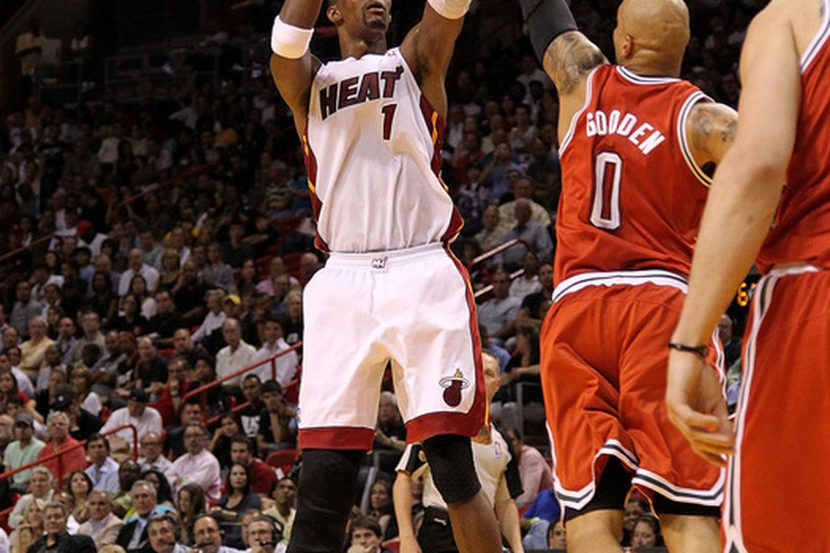 Chris Bosh is due for a big game, and often plays well against the Bobcats.  Hopefully that all comes together tonight.
