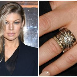Featuring a four-carat brilliant diamond set in a wide, intricately engraved band, the H.Stern engagement ring Josh Duhamel commissioned for his birde-to-be Fergie is a true show piece.