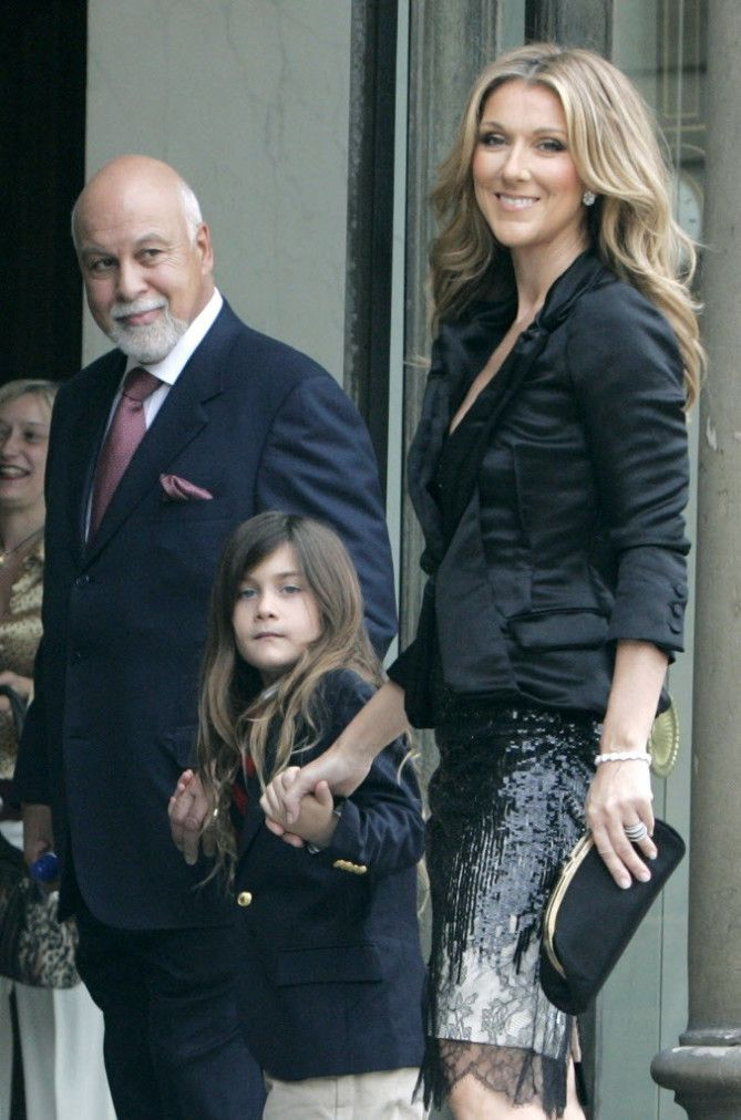 In this May 22, 2008 file photo, Celine Dion arrives with her son Rene-Charles and her husband Rene Angelil, at the Elysee Palace to be awarded of the Legion d'Honneur by French President Nicolas Sarkozy, in Paris. | AP Photo/Thibault Camus, File