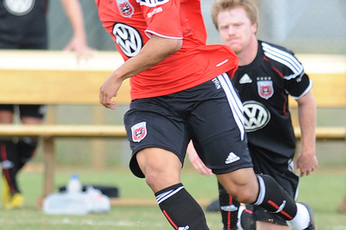 D.C. United certainly has high hopes for Charlie Davies' in his MLS debut. (Photo courtesy of D.C. United)