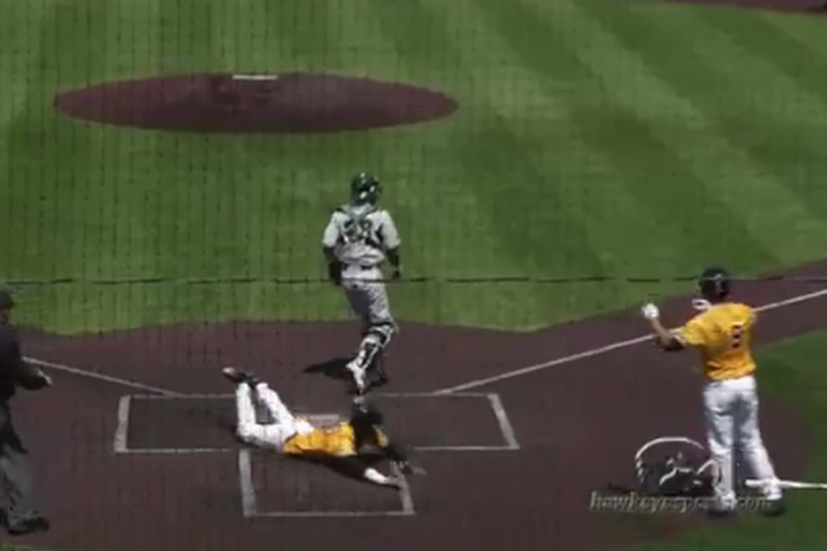 Image from Iowa's 5-1 win over Michigan State on Sunday.