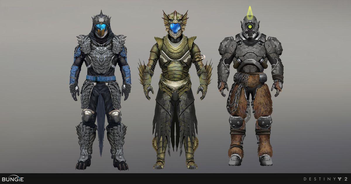 Destiny 2 monster movie armor sets art