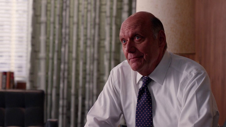Jim Hobart doesn't mince words with Joan on Mad Men.