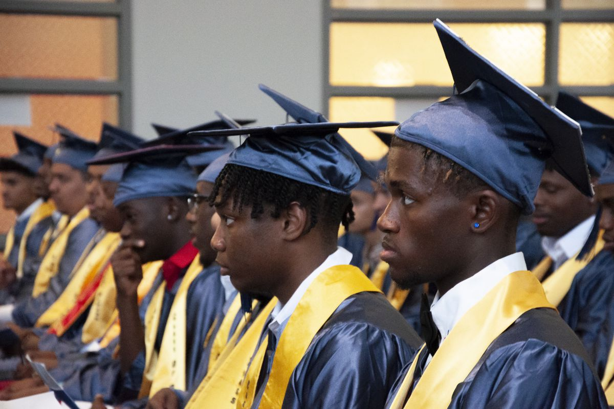 Eagle Academy for Young Men celebrated its first graduating class this year. The school opened in 2012 and graduated a class of 42 this week.