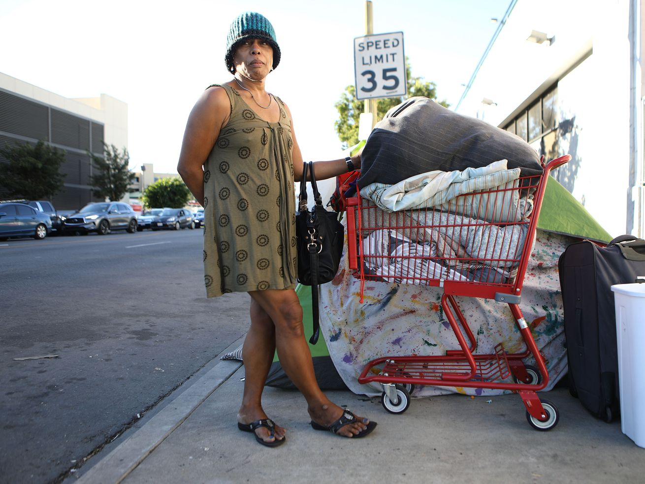 Los Angeles resident BriAnne, who is currently homeless, on November 2, 2018.