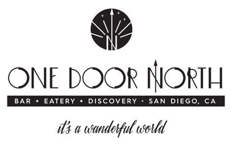 one door north