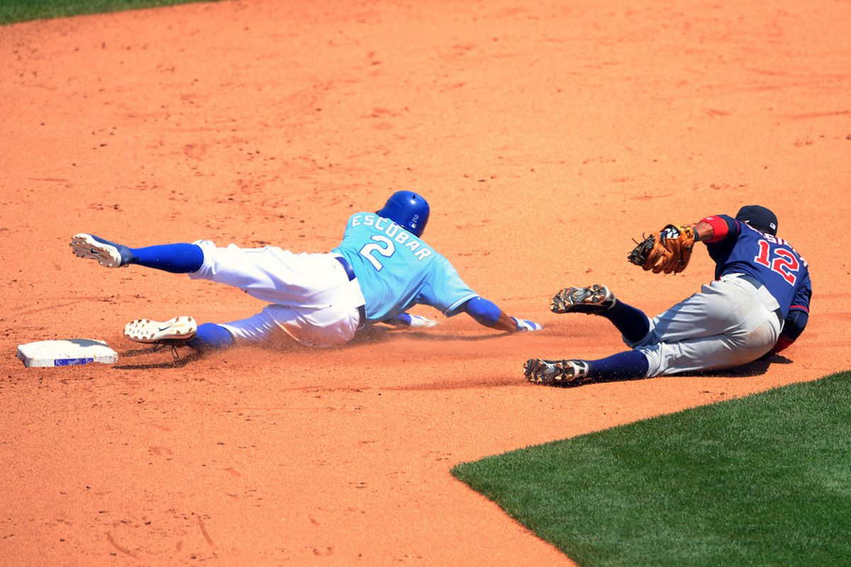 Does anyone on the Twins roster have more trade value than Alcides Escobar?