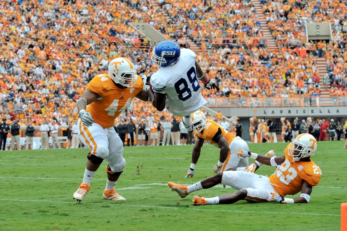 In this picture, Maurice Couch is No. 44 on Tennessee